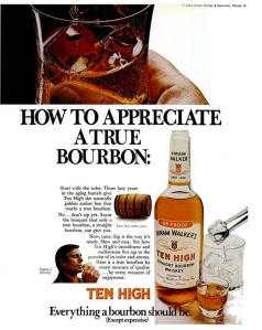 Ten High Bourbon Ad 1