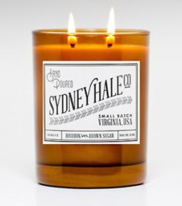 Double Oaked Bourbon & Salted Brown Sugar Caramel candle from Sydney Hale Co. I must admit that I am not much of a candle burner, but once this was suggested from one our readers that it was incredible I decided to try it myself. It's got a great scent to it and a 50 hour burn time.