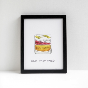 Drywell Cocktail Prints are great for any cocktail lover. With several different prints to choose from it should be easy to find some fine art for the special someone in your life. Get them here.