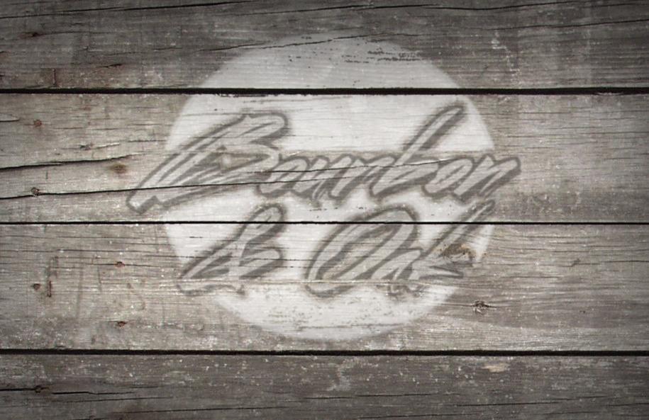Bourbon and Oak Wood Logo
