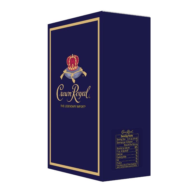 CROWN ROYAL BECOMES FIRST SPIRITS BRAND TO INCLUDE SERVING FACTS PANEL ON PACKAGING (PRNewsFoto/Diageo)